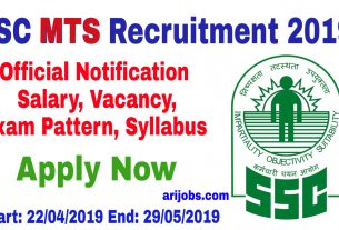 SSC MTS Recruitment 2019