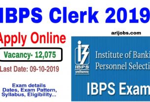 IBPS Clerk 2019 Notification Apply Online for Prelims Exam