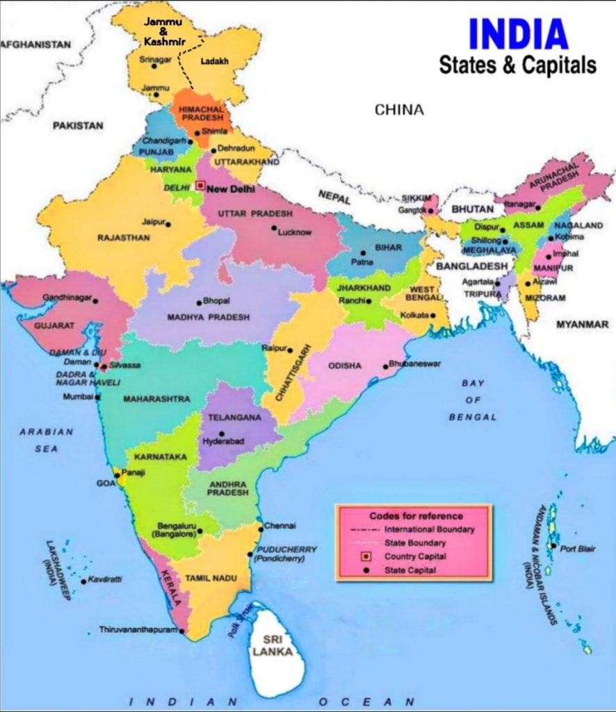 States and Capitals of India, UTs of India
